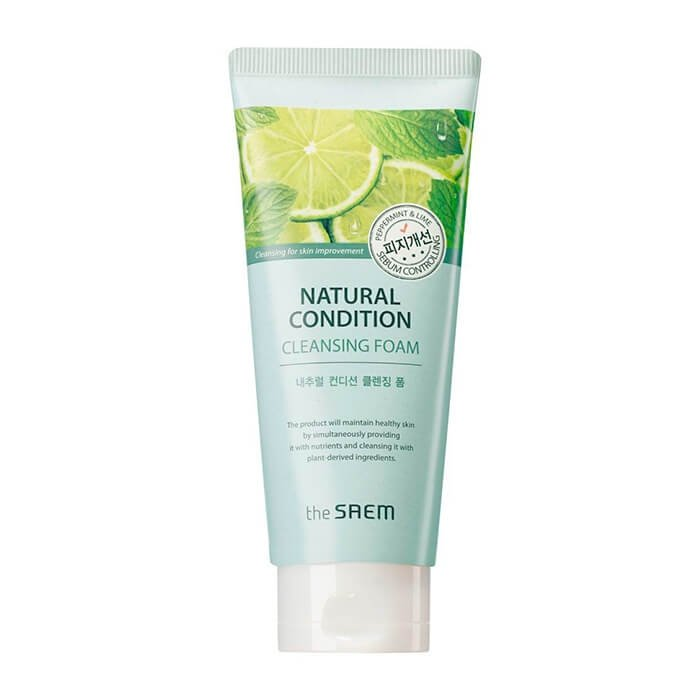 Очищающая пенка The Saem Natural Condition Cleansing Foam Sebum Control
