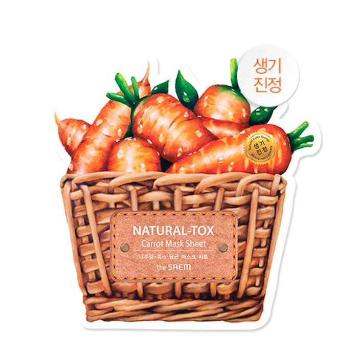 Тканевая маска The Saem Natural-tox Carrot Mask Sheet