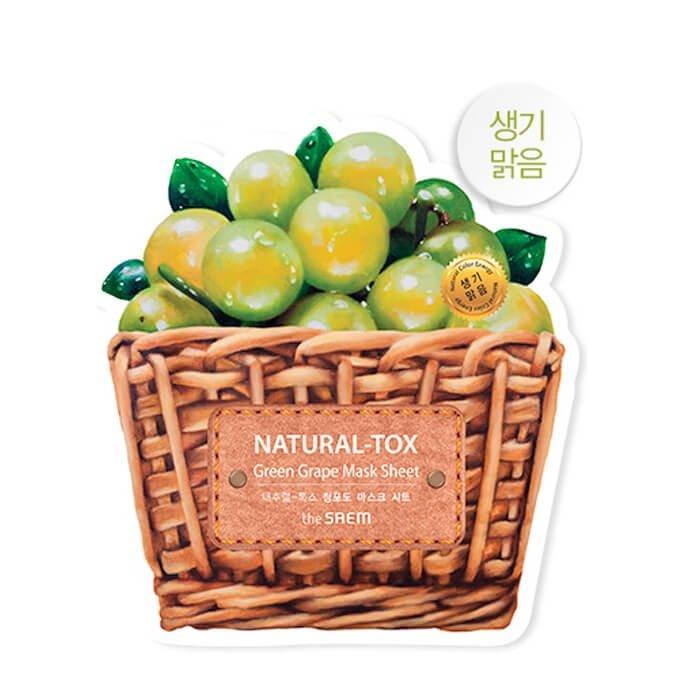 Тканевая маска The Saem Natural-tox Green Grape Mask Sheet