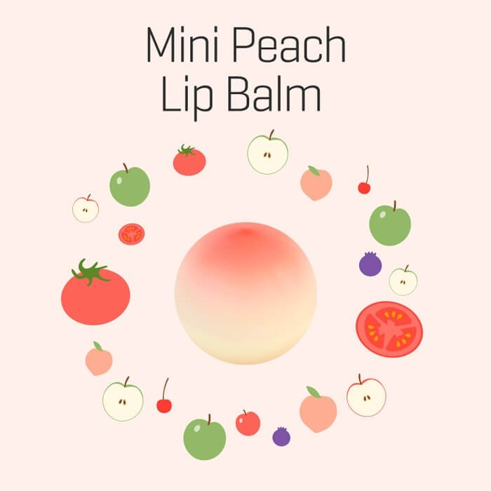 Бальзам для губ Tony Moly Mini Peach Lip Balm