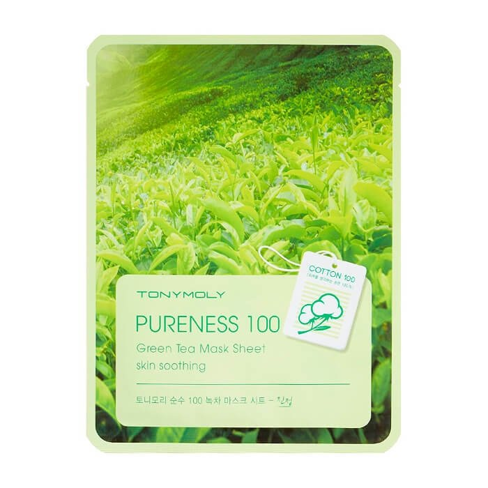 Тканевая маска Tony Moly Pureness 100 Green Tea Mask Sheet