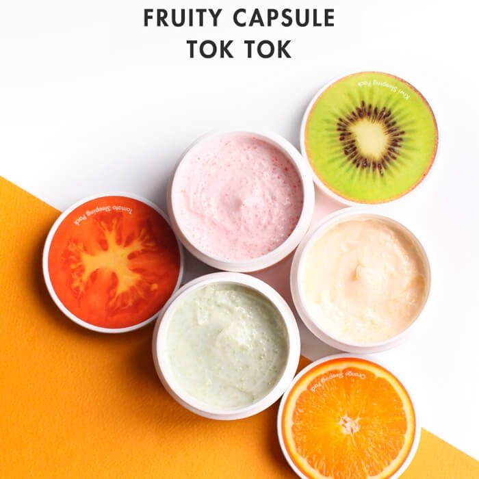 Ночная маска Tony Moly Fruity Capsule Tok Tok Kiwi Sleeping Pack