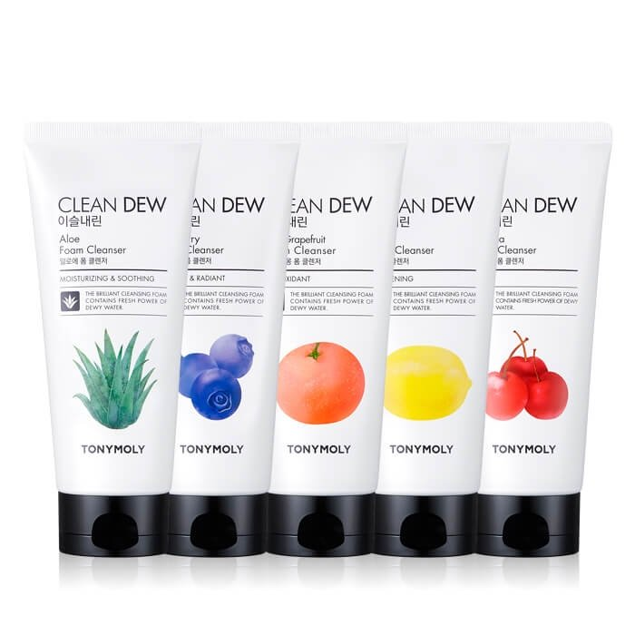 Пенка для умывания Tony Moly Clean Dew Aloe Foam Cleanser