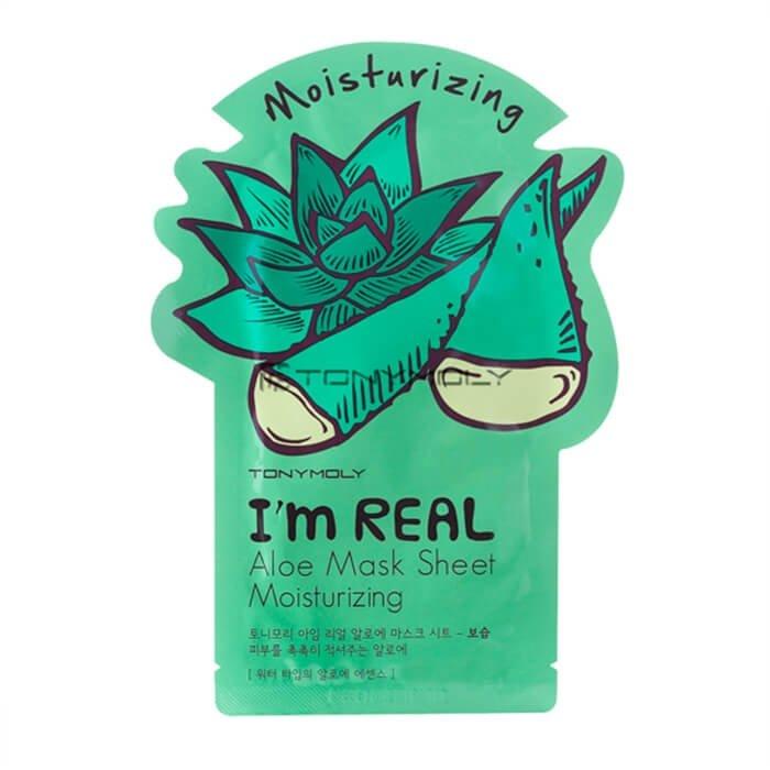Тканевая маска Tony Moly I'm Real Aloe Mask Sheet Moisturizing
