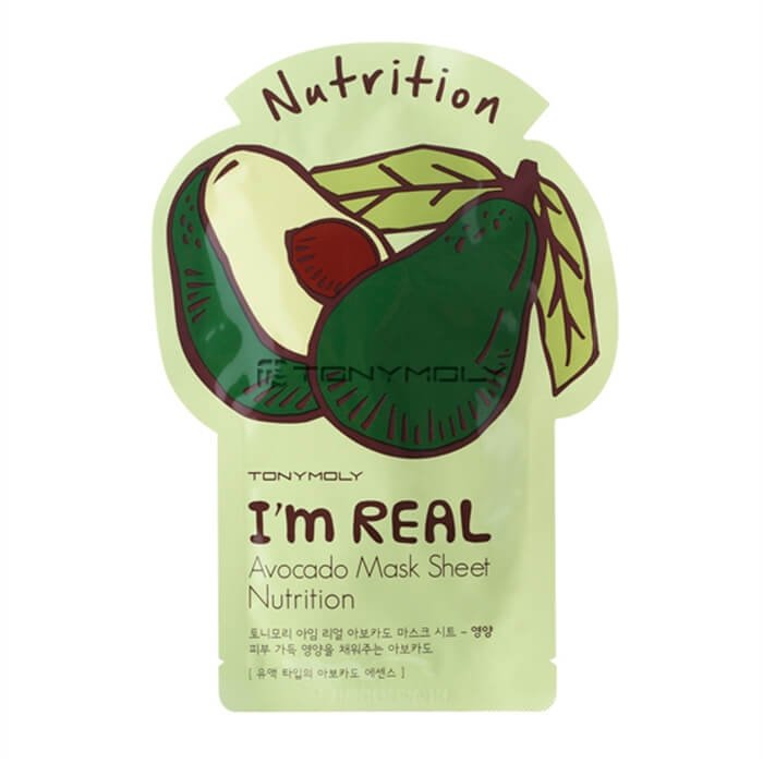 Тканевая маска Tony Moly I'm Real Avocado Mask Sheet Nutrition