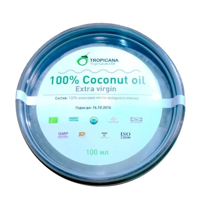 Кокосовое масло Tropicana Extra Virgin 100% Coconut Oil - Black Pack 100