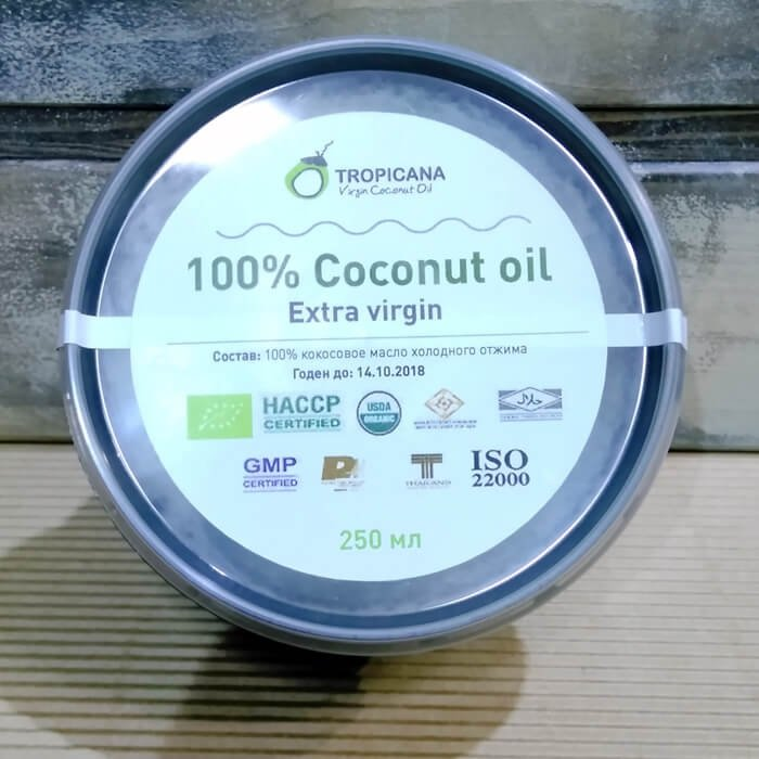 Кокосовое масло Tropicana Extra Virgin 100% Coconut Oil - Black Pack 250