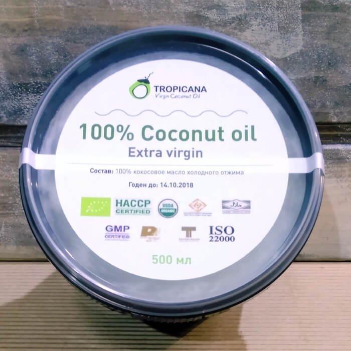 Кокосовое масло Tropicana Extra Virgin 100% Coconut Oil - Black Pack 500