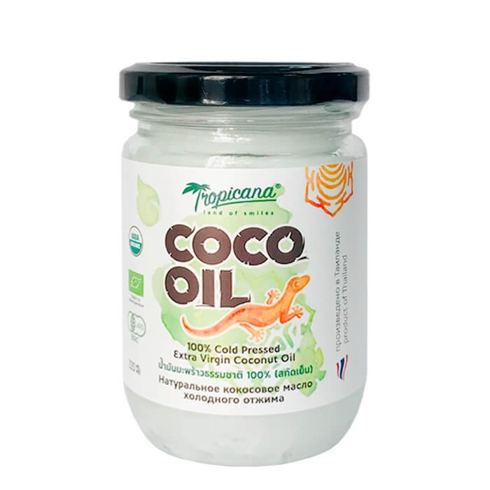 Кокосовое масло Tropicana Organic Cold Pressed Virgin Coconut Oil 100% (220 мл)