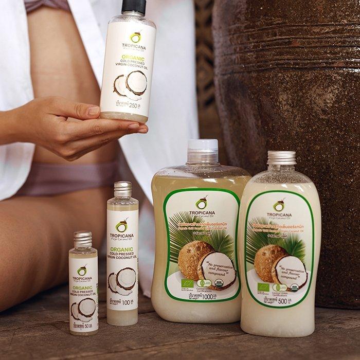 Кокосовое масло Tropicana Organic Cold Pressed Virgin Coconut Oil 100% (1 литр)