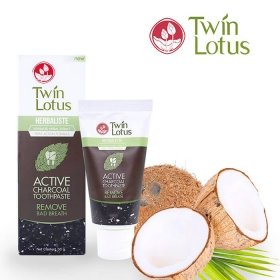 Зубная паста Twin Lotus Active Charcoal (50 г)