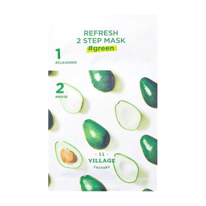 Двухфазная маска Village 11 Factory Refresh 2-Step Mask Green