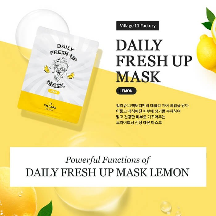 Тканевая маска Village 11 Factory Daily Fresh Up Mask Lemon