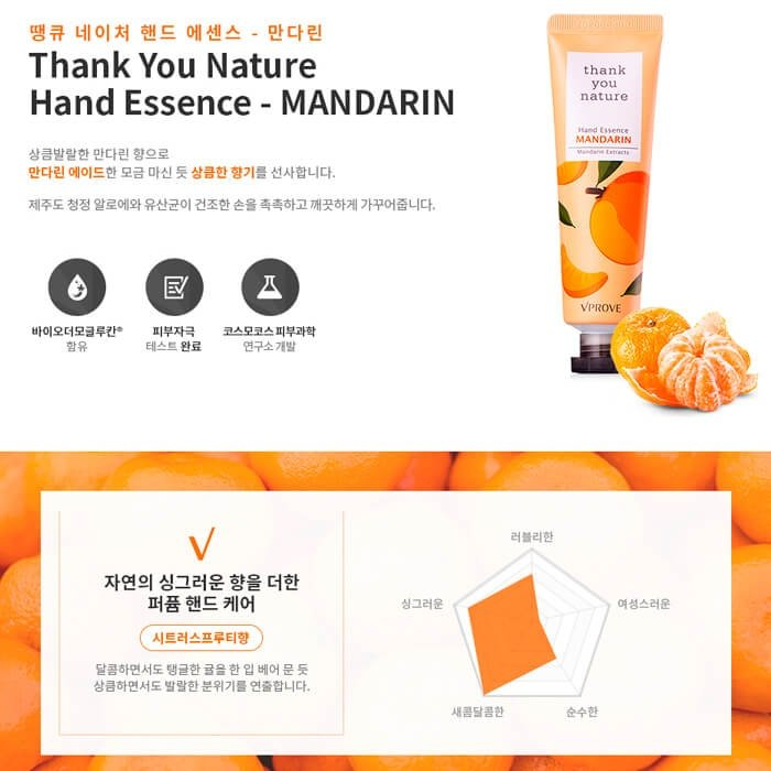 Эссенция для рук Vprove Thank You Nature Hand Essence - Mandarin