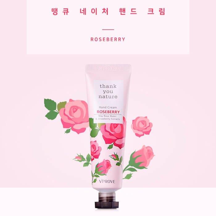 Крем для рук Vprove Thank You Nature Hand Cream - Roseberry