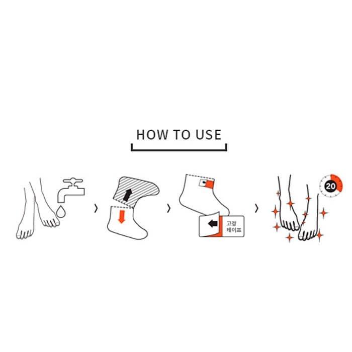 Маска для ног Vprove Shea Foot Moisture Mask