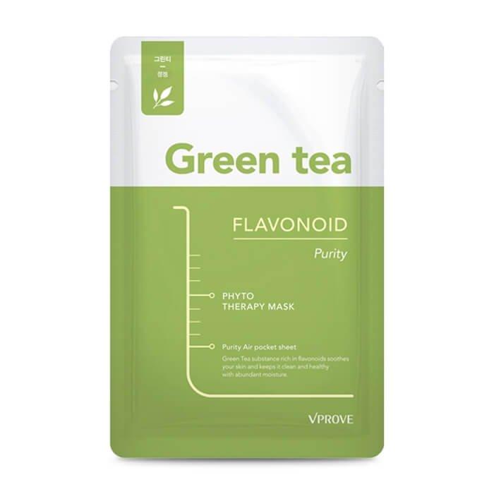 Тканевая маска Vprove Phyto Therapy Mask Sheet Green Tea Flavonoid Purity
