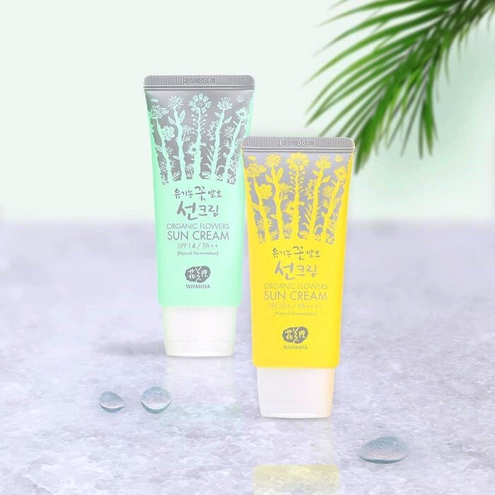Солнцезащитный крем для лица Whamisa Organic Flowers Sun Cream (SPF 14)