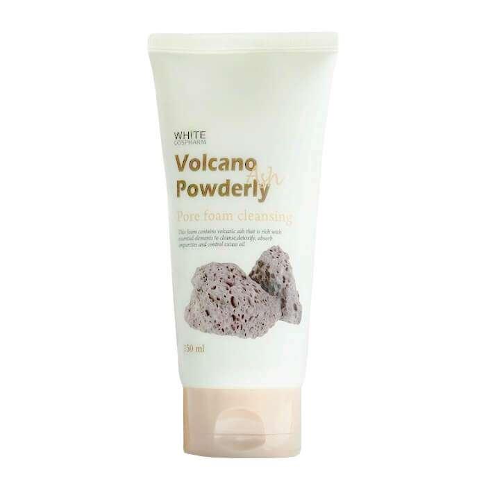 Очищающая пенка White Organia Volcano Ash Powderly Pore Foam Cleansing