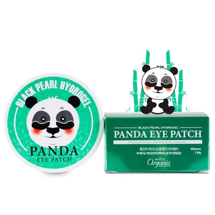 Патчи для век White Organia Black Pearl Hydrogel Panda Eye Patch