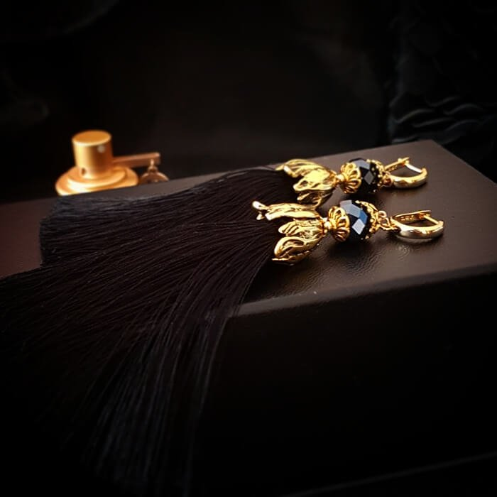 Серьги-кисти Wizard Brush - Black & Gold
