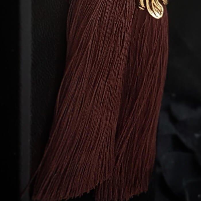 Серьги-кисти Wizard Brush - Chocolate