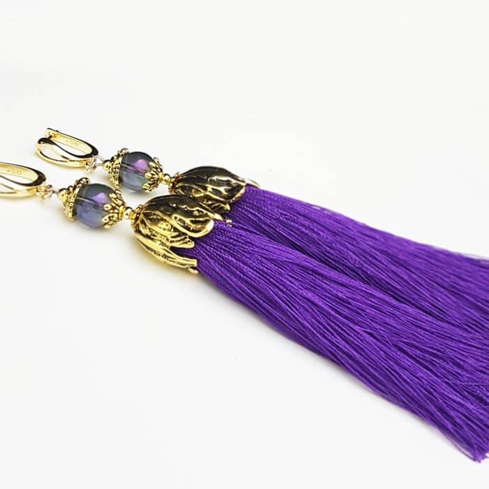 Серьги-кисти Wizard Brush - Lilac