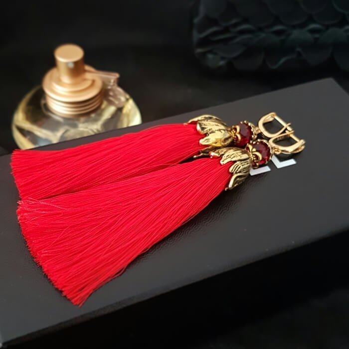 Серьги-кисти Wizard Brush - Real Red