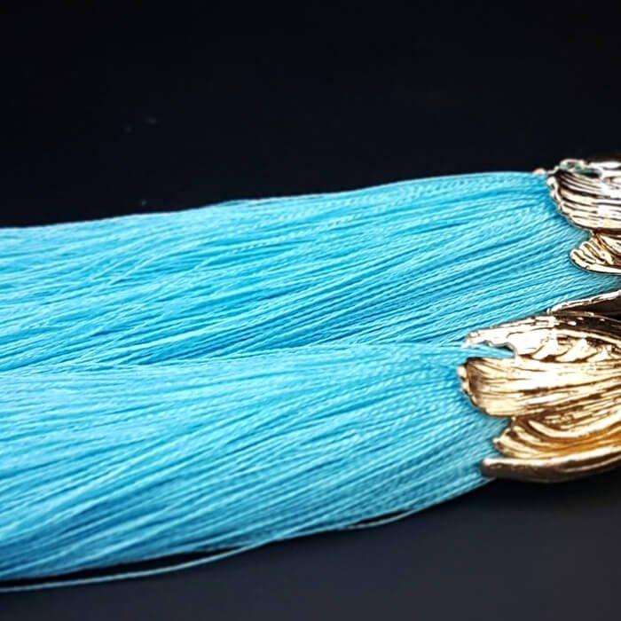 Серьги-кисти Wizard Brush - Turquoise