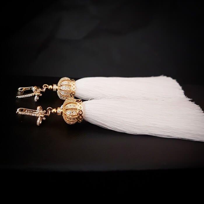 Серьги-кисти Wizard Brush - White Royal