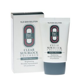 Солнцезащитный крем для лица Yu.r Clear Sun Block Collagen