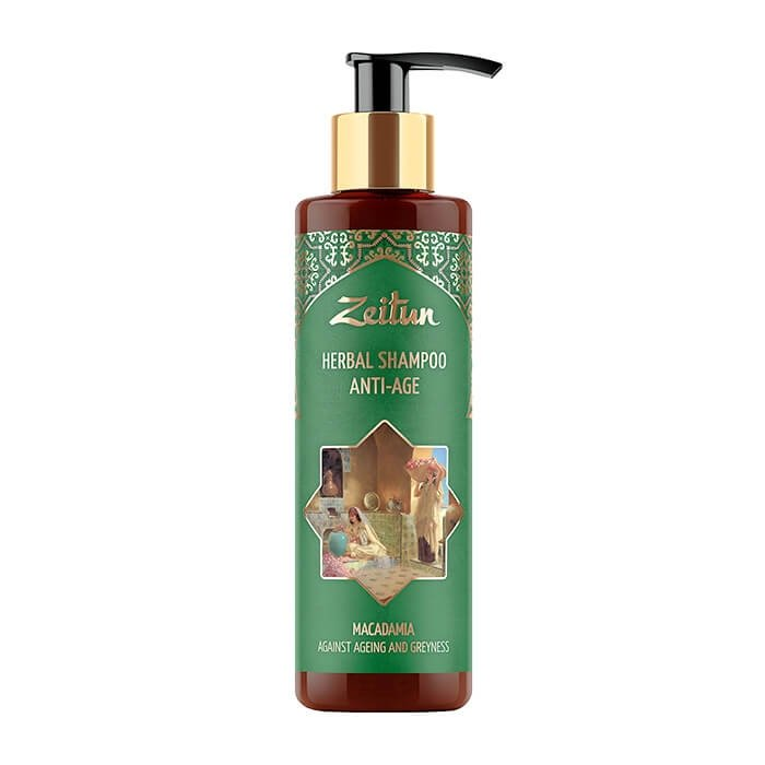 Шампунь для волос Zeitun Herbal Shampoo Anti-Age Macadamia