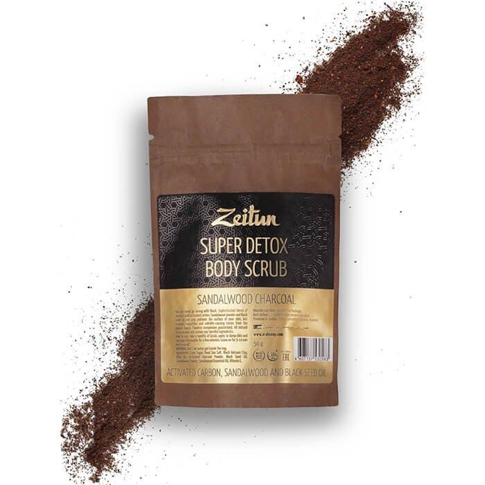 Скраб для тела Zeitun Super Detox Body Scrub Sandalwood Charcoal (50г)