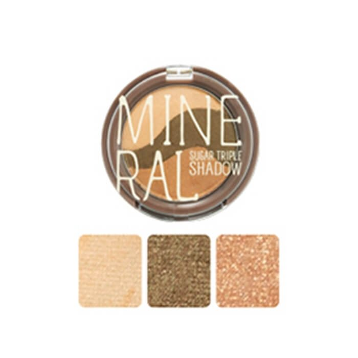 Тени для век Skinfood Mineral Sugar Triple Shadow