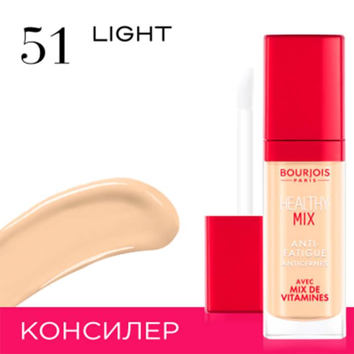Купить Консилер для лица Bourjois Healthy Mix Concealer #51 Vanille Clair | Светлый ванильный, Консилер для устранения следов усталости на лица, Франция