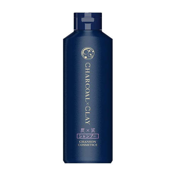 Купить Шампунь для волос Chanson Cosmetics Charcoal Shampoo, Укрепляющий балансирующий шампунь для волос на основе угля и глины, Япония