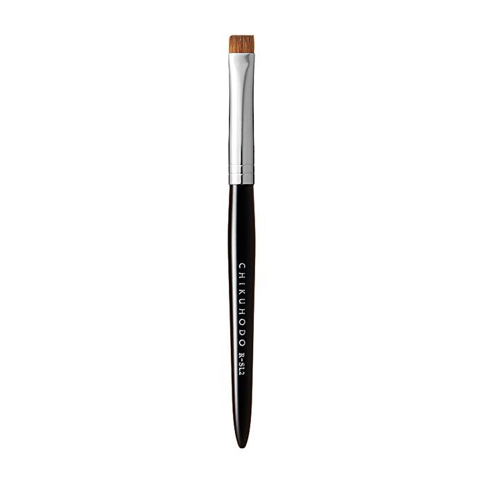 Купить Кисть для макияжа Chikuhodo Eye Liner Brush R-SL2, Малая плоская кисть из натурального ворса для нанесения подводки, Япония