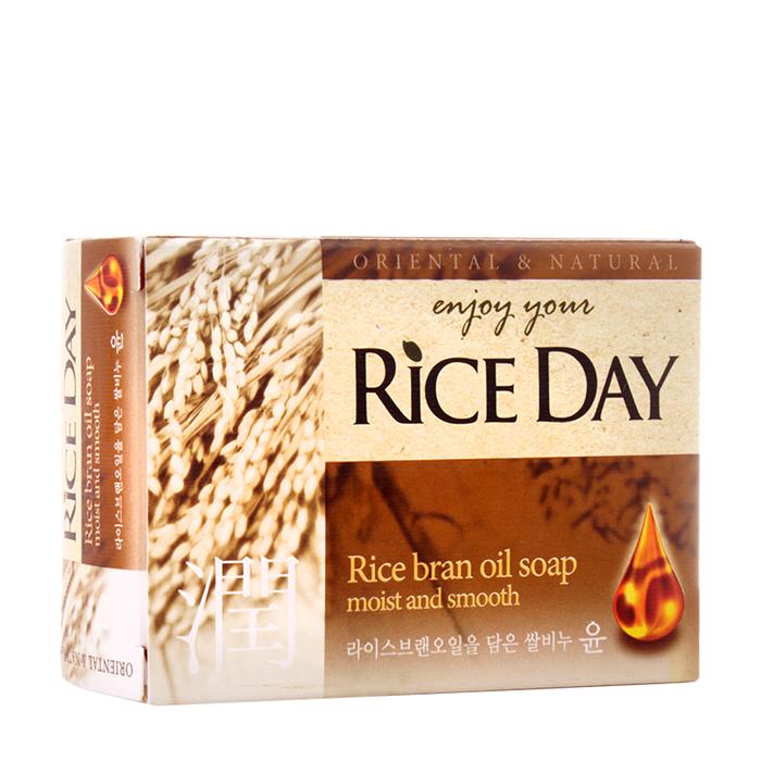 Мыло туалетное CJ Lion Rice Day Oriental & Natural Rice Bran Soap Туалетное мыло для рук и тела с маслом рисовых отрубей фото