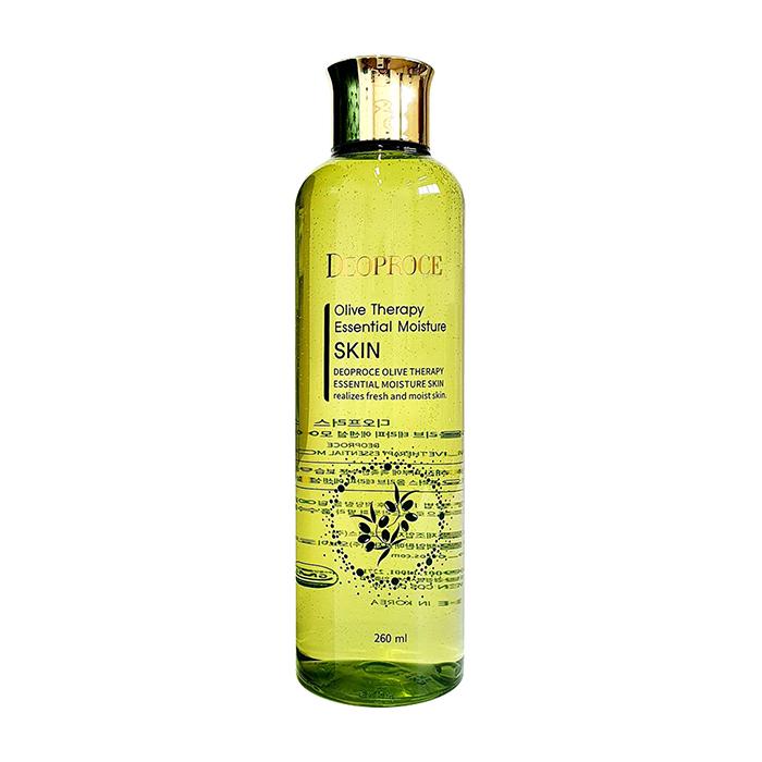 Купить Тонер для лица Premium Deoproce Olivetherapy Essential Moisture Skin (260 мл), Интенсивно увлажняющий тонер для лица с маслом оливы, Южная Корея