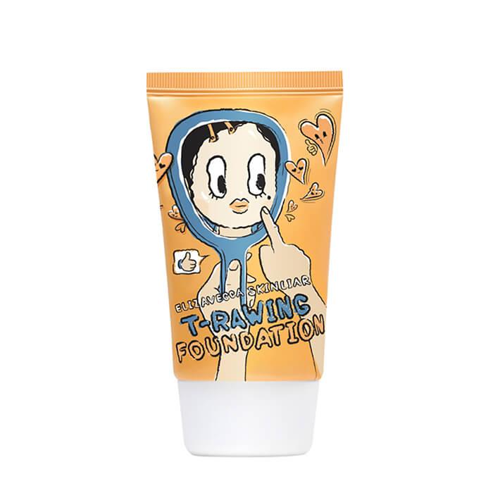 Купить Тональный крем Elizavecca Skin Liar T-Rawing Foundation # 11 Natural Beige | Натуральный бежевый, Лёгкая тональная основа для незаметного макияжа и увлажнения кожи лица, Южная Корея