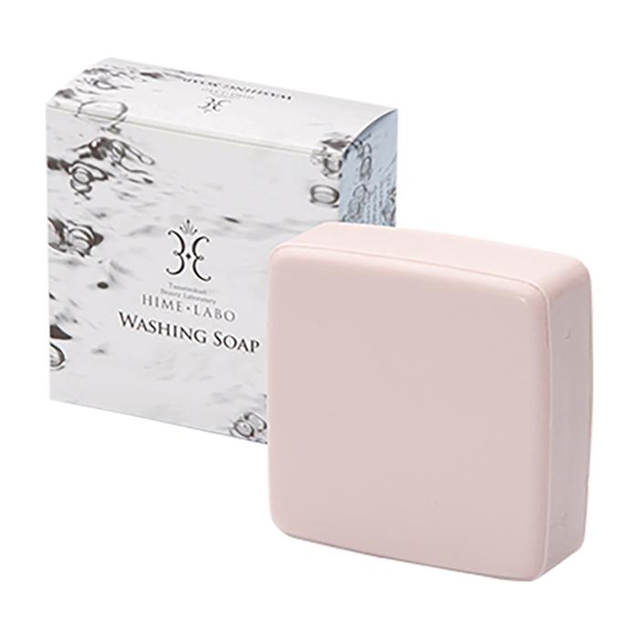 Купить Мыло для лица Hime Labo Washing Soap, Нежное увлажняющее мыло с мелкотекстурной пеной на основе термальной воды, Япония