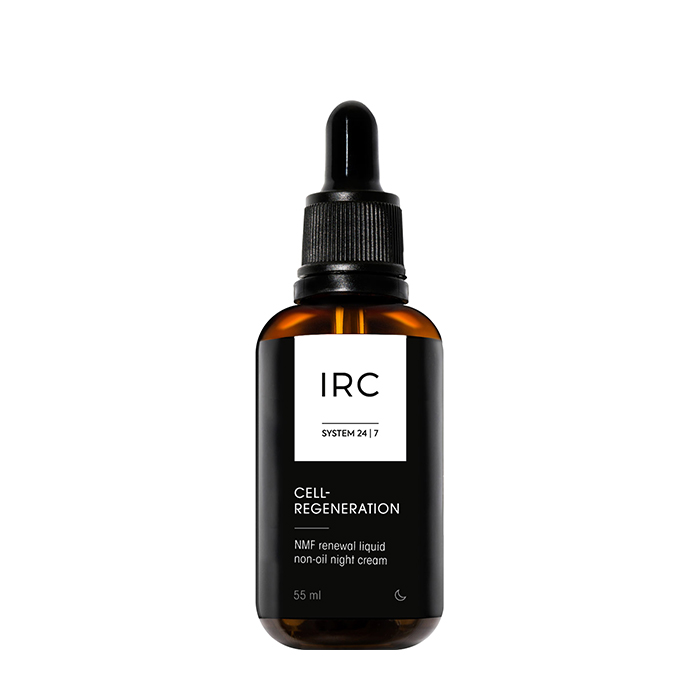Купить Крем для лица IRC Cell-Regeneration NMF Renewal Liquid Non-Oil Light Cream, Восстанавливающий ночной жидкий нежирный крем для питания и упругости кожи лица, IRC 24|7, Россия