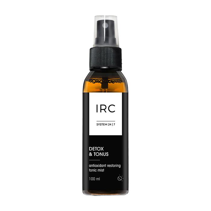 Купить Тоник-мист для лица IRC Detox & Tonus Antioxidant Restoring Tonic Mist (100 мл), Тонизирующий и увлажняющий тоник-мист для кожи лица с витаминами и антиоксидантами, IRC 24|7, Россия