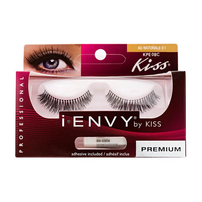 Купить Накладные ресницы Kiss I Envy Eyelashes #KPE08C Au Naturale 01 | Очарование, Накладные ресницы для создания различных образов, США