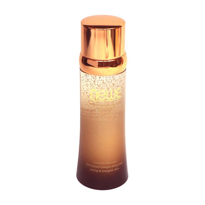 Купить Тонер для лица Newe Golden Label De Luxe Toner, Питательный антивозрастной тонер для кожи лица с частицами золота, Южная Корея