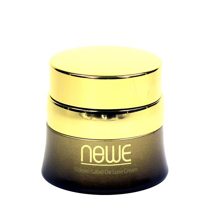 Купить Крем для лица Newe Golden Label De Luxe Cream, Питательный антивозрастной крем для кожи лица с частицами золота, Южная Корея