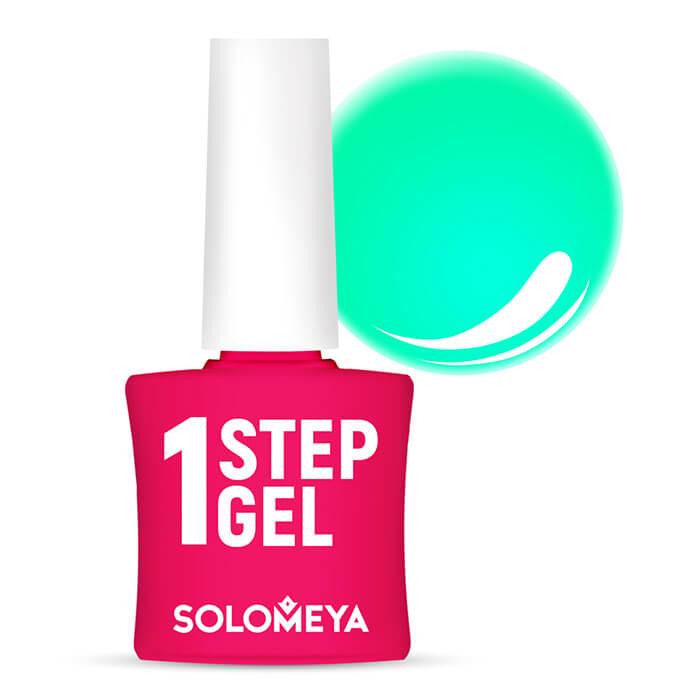 Купить Гель-лак для ногтей Solomeya One Step Gel #12 Mint   Мята, Однофазный гель-лак со стойким глянцевым покрытием, Великобритания