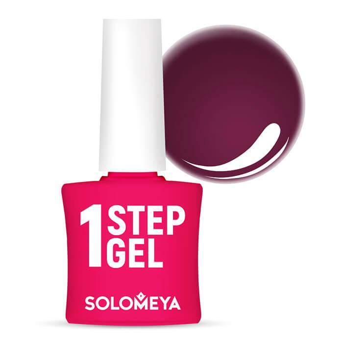 Купить Гель-лак для ногтей Solomeya One Step Gel #14 Cherry   Вишня, Однофазный гель-лак со стойким глянцевым покрытием, Великобритания