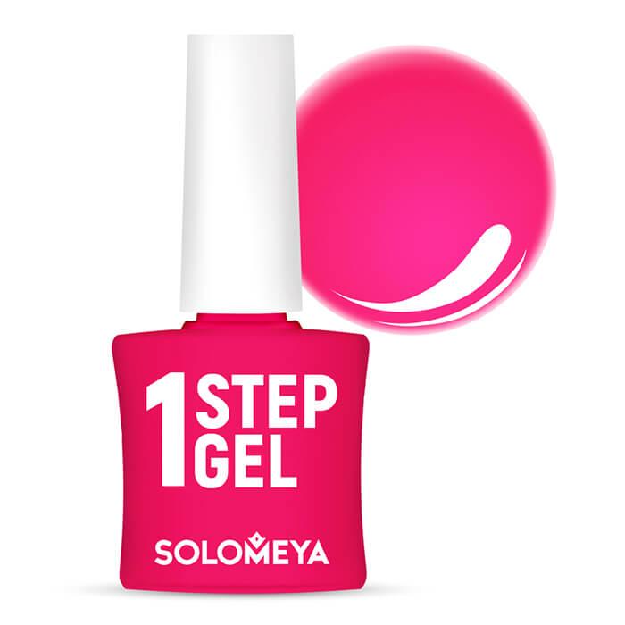 Купить Гель-лак для ногтей Solomeya One Step Gel #18 Kiss   Поцелуй, Однофазный гель-лак со стойким глянцевым покрытием, Великобритания