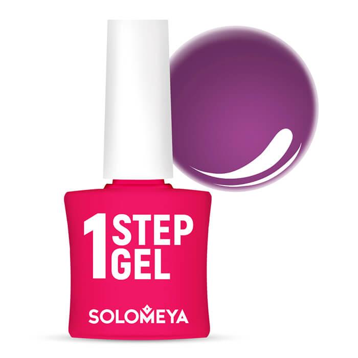 Купить Гель-лак для ногтей Solomeya One Step Gel #22 Plum   Слива, Однофазный гель-лак со стойким глянцевым покрытием, Великобритания